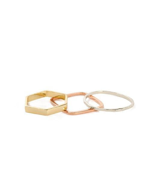 Bing Bang - Metallic Geometric Ring Set - Lyst