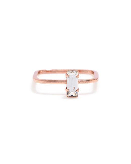 Bing Bang | Pink Balancing Baguette Ring | Lyst