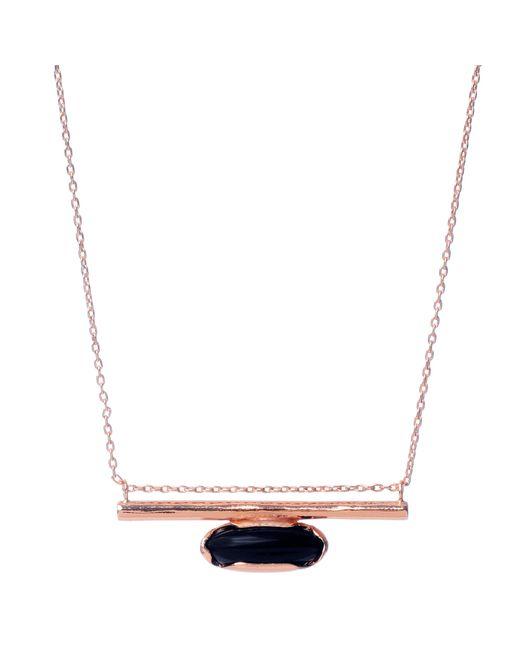Bing Bang | Pink Horizon Line Necklace | Lyst