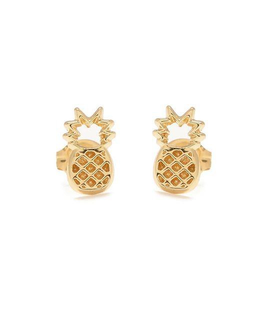 Bing Bang - Metallic Pineapple Studs - Lyst