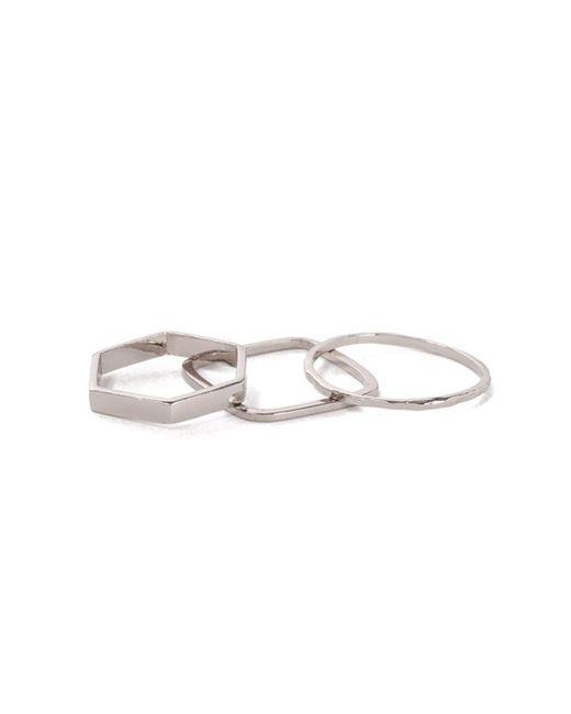 Bing Bang - Metallic Geometric Ring Set - Lyst