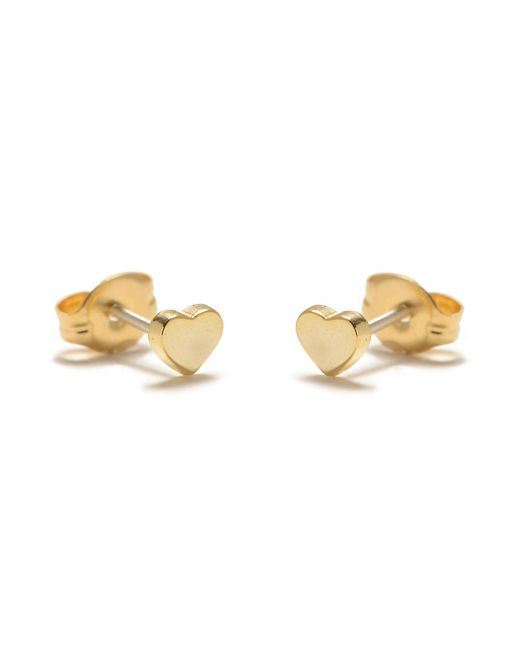 Bing Bang - Metallic Baby Heart Studs - Lyst