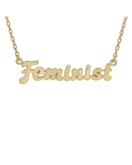 Bing Bang | Metallic Feminist Necklace (bb X Me & You) | Lyst