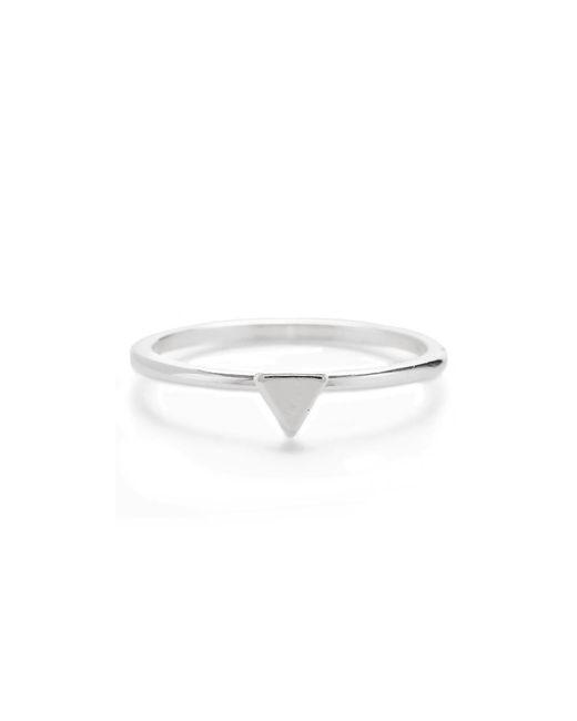Bing Bang - Metallic Tiny Triangle Ring - Lyst