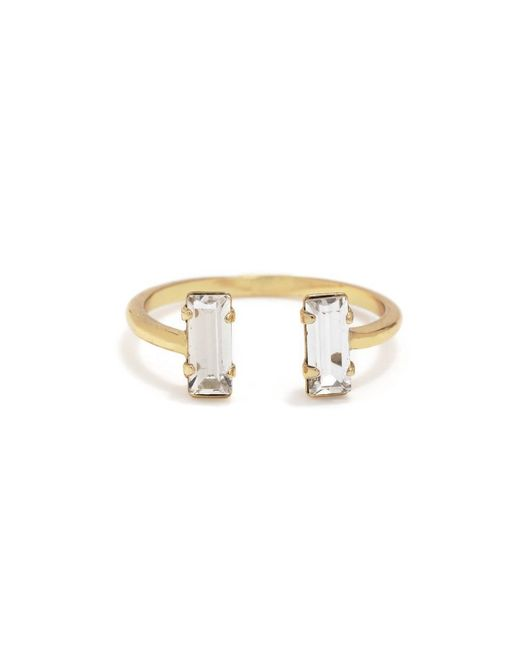 Bing Bang - Yellow Double Baguette Ring - Lyst