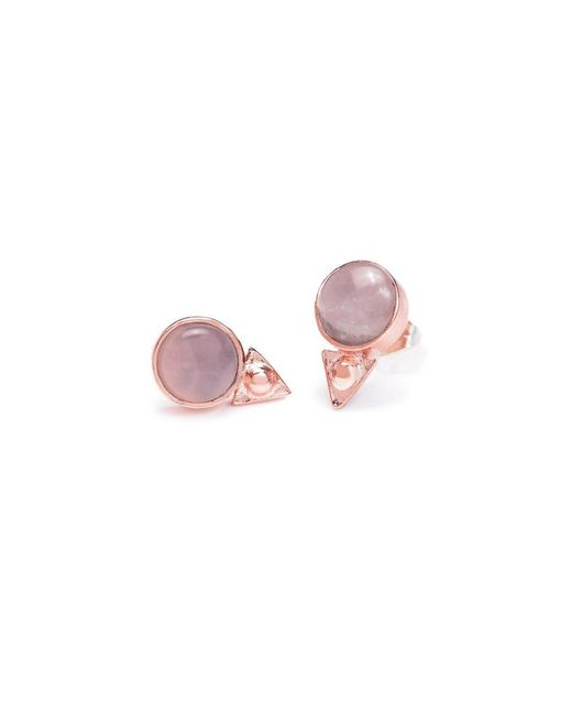 Bing Bang - Pink Earth Amulet Studs - Lyst