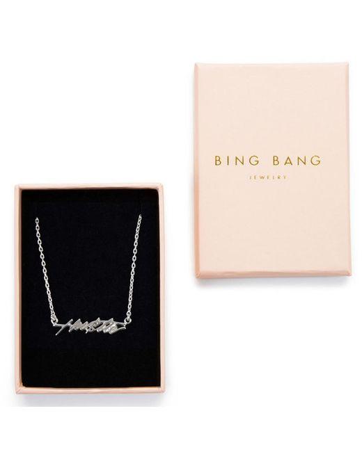 Bing Bang | Metallic Hustle Necklace | Lyst