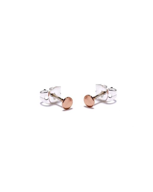 Bing Bang - Pink Tiny Circle Studs - Lyst