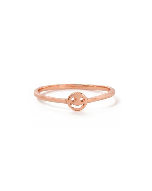 Bing Bang - Pink Smiley Face Ring - Lyst