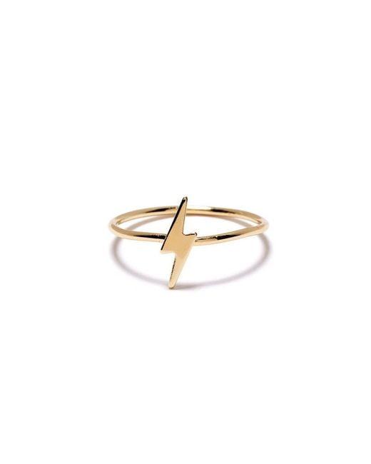 Bing Bang - Yellow Lightning Bolt Ring - Lyst