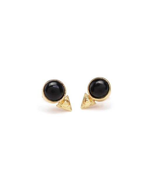Bing Bang - Yellow Earth Amulet Studs - Lyst