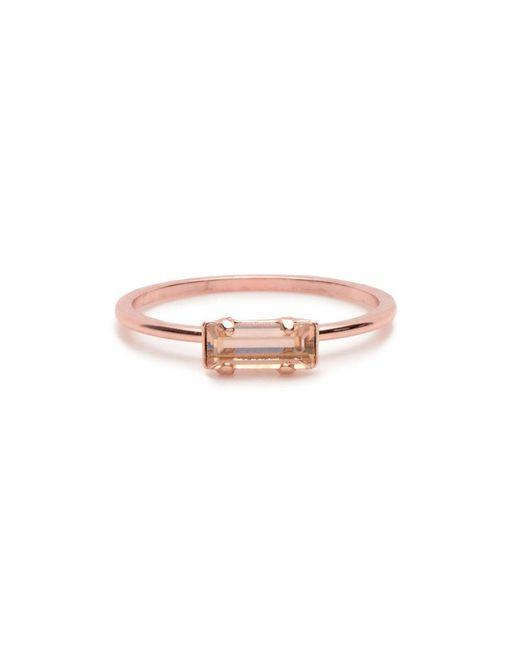 Bing Bang - Pink Tiny Baguette Ring - Lyst