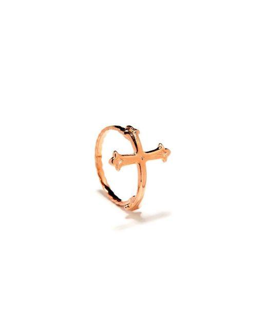 Bing Bang | Pink Victorian Cross Ring | Lyst