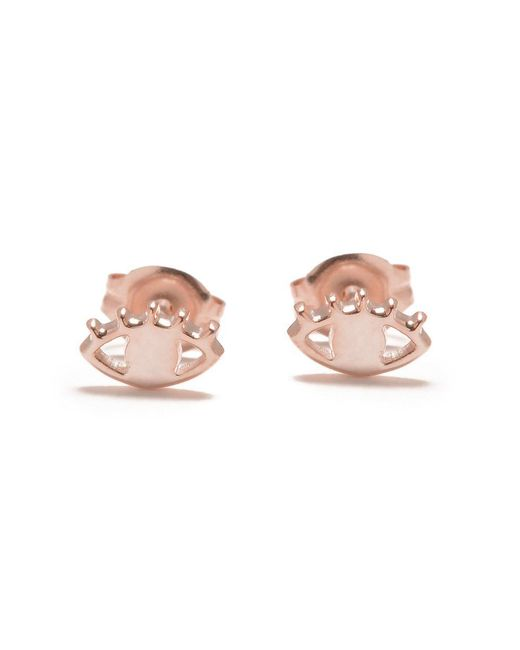 Bing Bang - Pink Eye Studs - Lyst