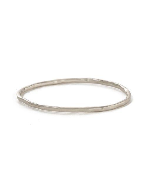 Bing Bang - Metallic Round Hammered Bangle - Lyst