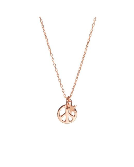 Bing Bang - Metallic Peace Out Necklace - Lyst