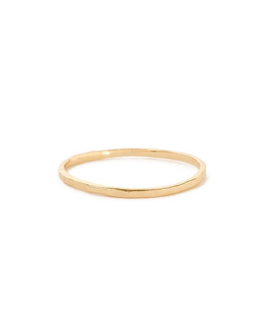Bing Bang | Yellow Delicate Hammered Band | Lyst