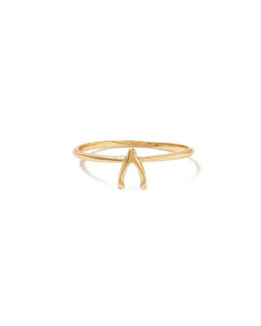 Bing Bang - Yellow Wishbone Ring - Lyst