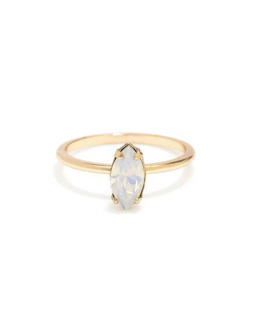 Bing Bang - Metallic Tiny Marquis Ring - Lyst