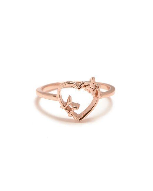 Bing Bang | Pink Sparkle Heart Ring | Lyst