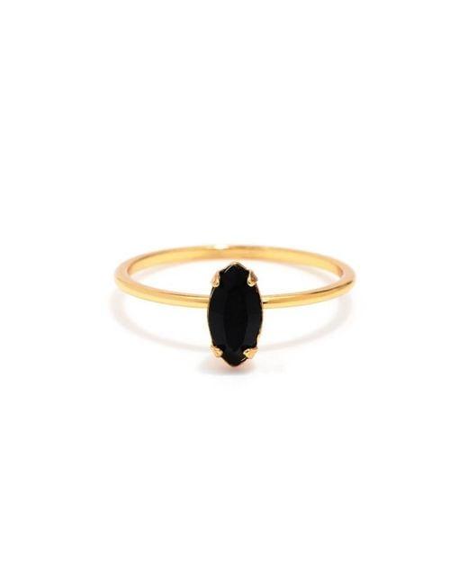 Bing Bang | Yellow Tiny Marquis Ring | Lyst