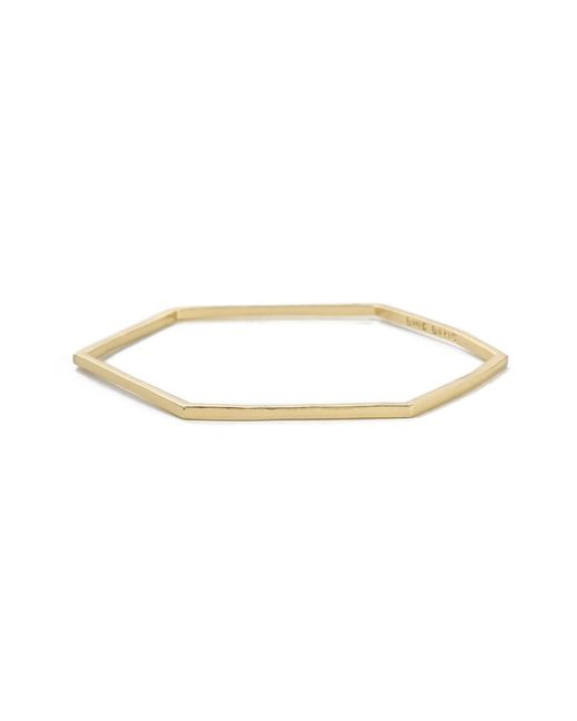 Bing Bang - Yellow Slim Hexagon Bangle - Lyst