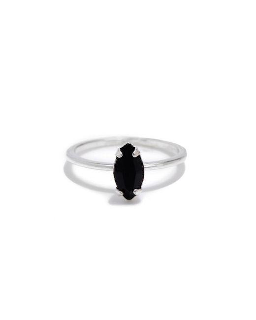 Bing Bang - Black Tiny Marquis Ring - Lyst
