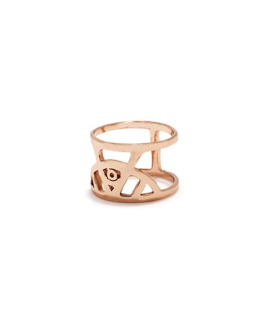 Bing Bang - Pink Illuminated Eye Ring - Lyst