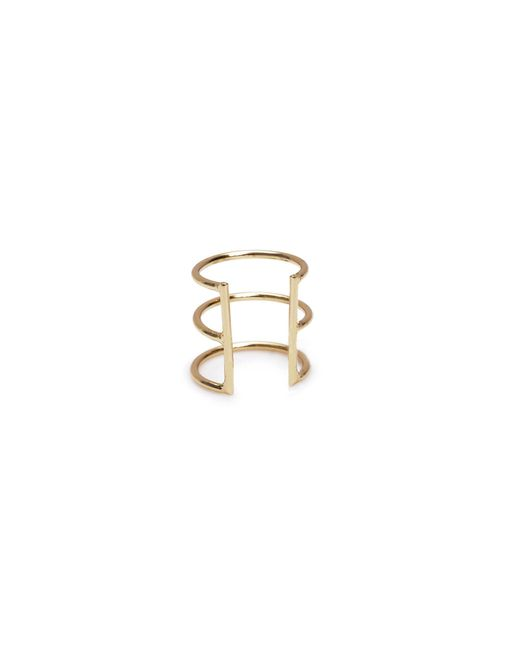 Bing Bang - Yellow Delicate Caged Ear Cuff - Lyst