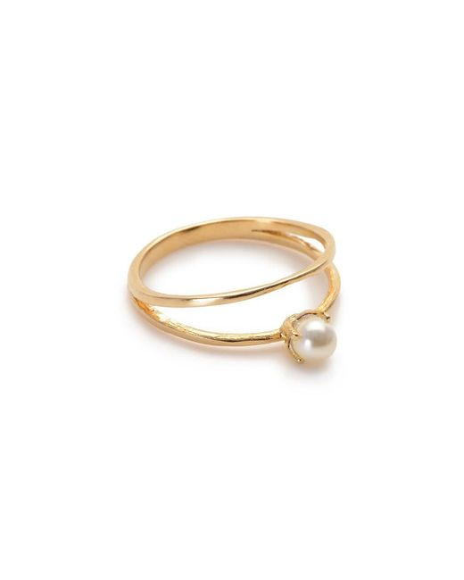 Bing Bang - Yellow Pearl Illusion Ring - Lyst