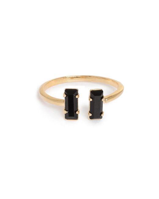 Bing Bang - Metallic Double Baguette Ring - Lyst