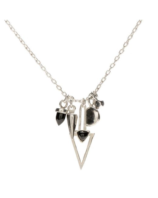 Bing Bang - Metallic New Moon Charm Necklace - Lyst