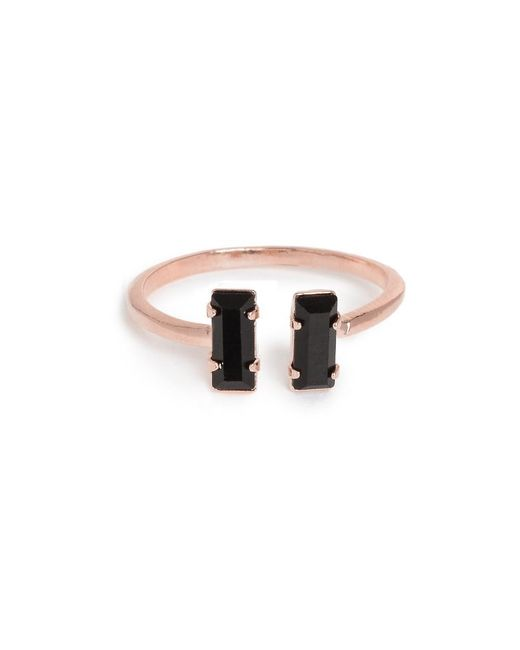 Bing Bang - Metallic Double Baguette Ring - Lyst