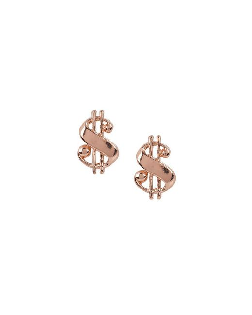 Bing Bang - Pink Baller Money Sign Studs - Lyst