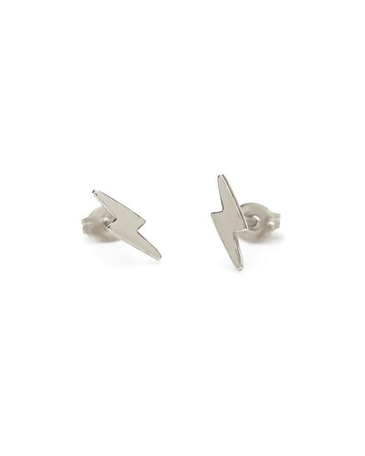 Bing Bang | Metallic Lightning Bolt Studs | Lyst