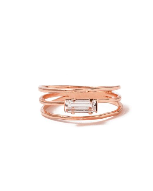 Bing Bang - Pink Stacked Baguette Ring - Lyst