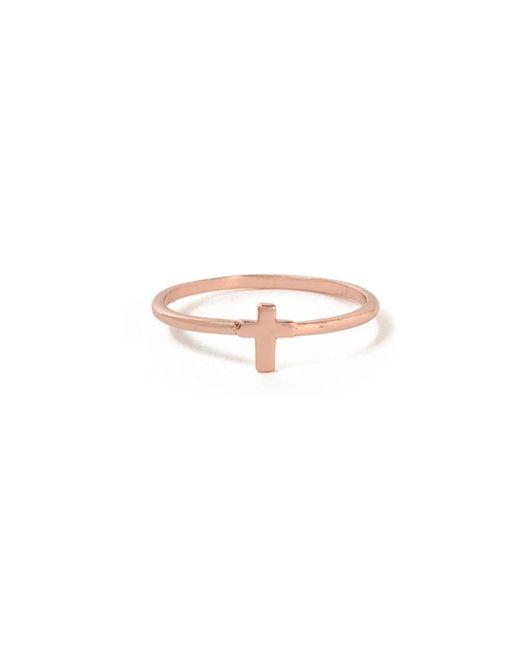 Bing Bang - Pink Tiny Cross Ring - Lyst