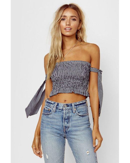 Blue Life - Tasha Tube Top - White/black Stripe - Lyst