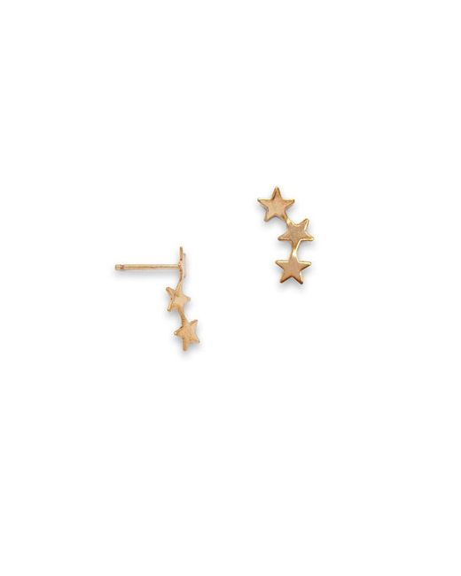SIMONE JEANETTE - Metallic Stera Ear Climbers - Lyst