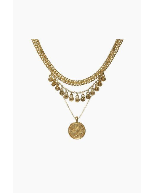 Luv Aj - Metallic Noa Coin Charm Necklace - Gold - Lyst