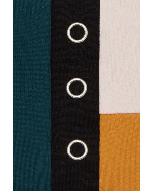 051f59b4223fb ... Seafolly - Aralia Scoop Stud Front Bikini Top - Emerald/rose/black/gold