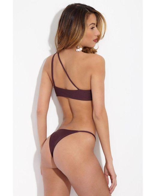 Mikoh Swimwear - Purple Sao Paulo Bottom - Wine - Lyst