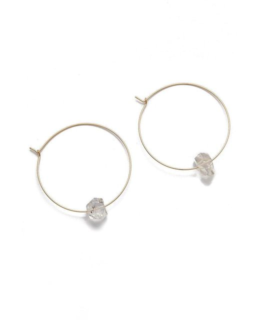 BLAINE BOWEN - Metallic Hayley Hoop Earrings - Lyst