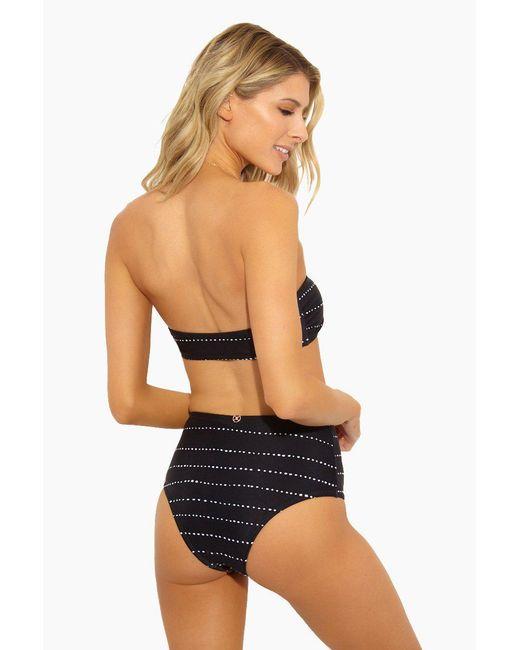 ViX - Black Stripe Dot Hot Pants Brazilian Bikini Bottom - Stripe Dot - Lyst