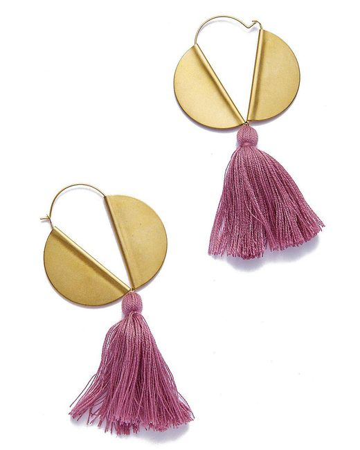 Sandy Hyun - Multicolor Lavender Tassle Earrings - Lyst