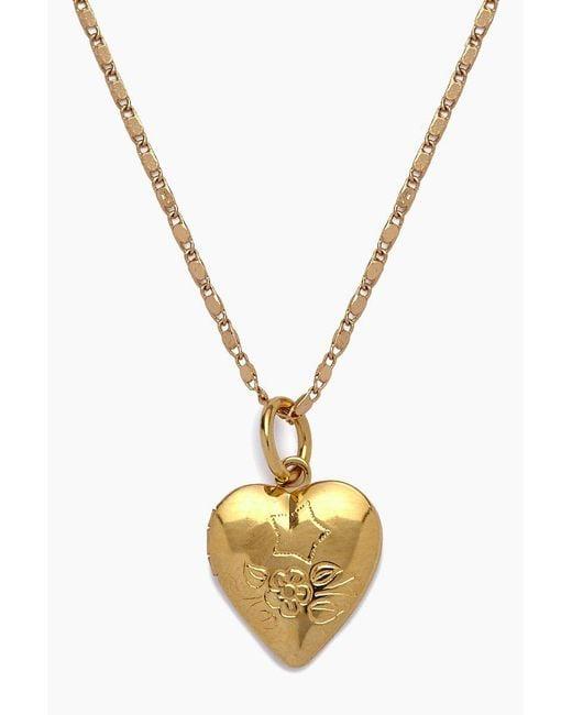 Vanessa Mooney - Metallic The Locket Necklace - Gold - Lyst