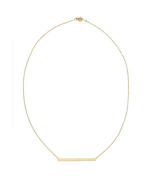 Talia Naomi | Metallic Finish Line Necklace | Lyst
