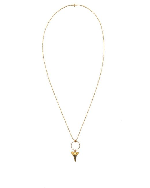 SIMONE JEANETTE | Metallic Black Shark Tooth Necklace | Lyst