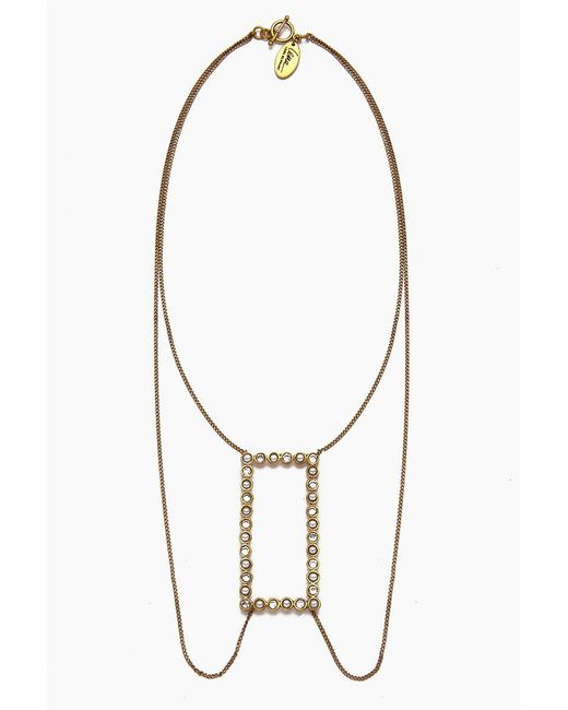 Lena Bernard - Metallic Amma Pearl & Crystal Gold Layered Necklace - Lyst