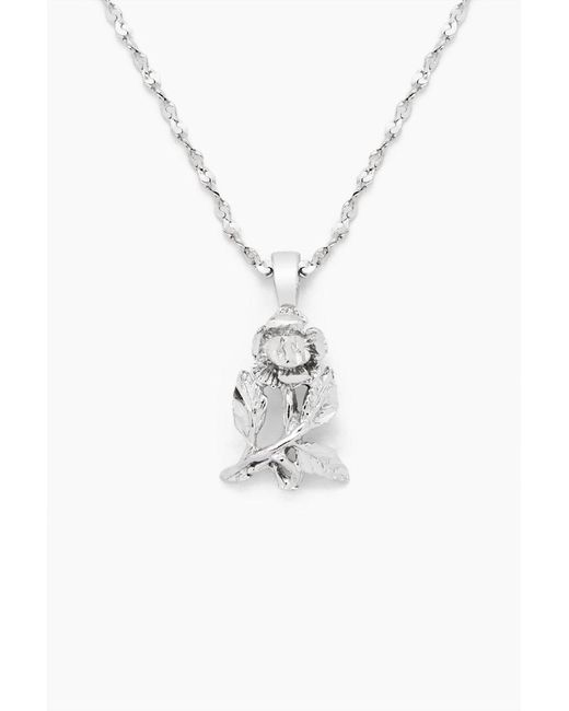 Vanessa Mooney - Metallic The Fionna Rose Necklace - Silver - Lyst